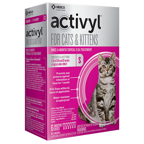 Activyl For Small Cats 2-9 Lbs Orange 4 Pack